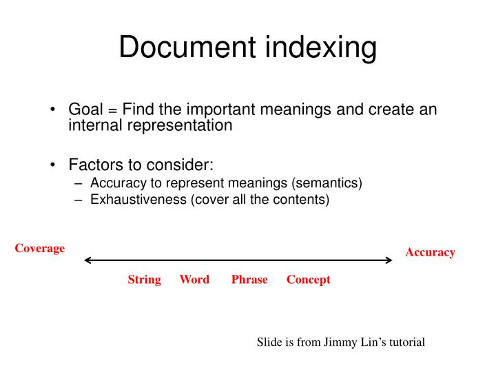 Document indexing