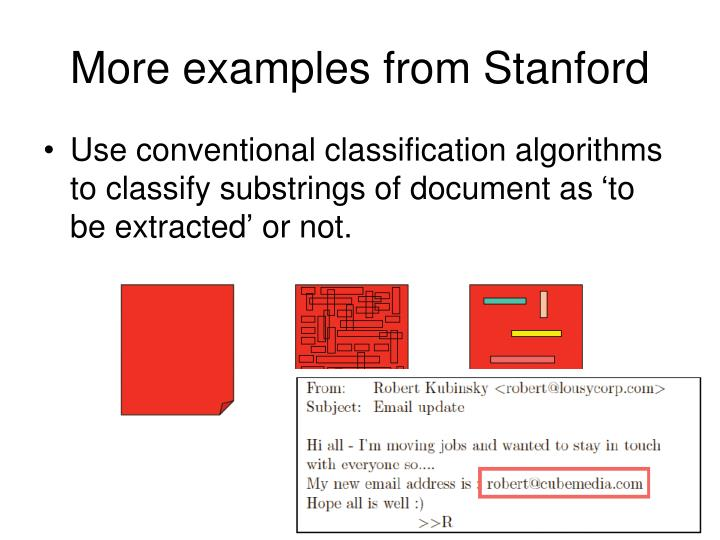 More examples from Stanford