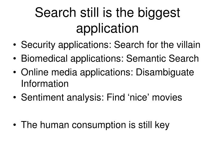 Search still is the biggest application