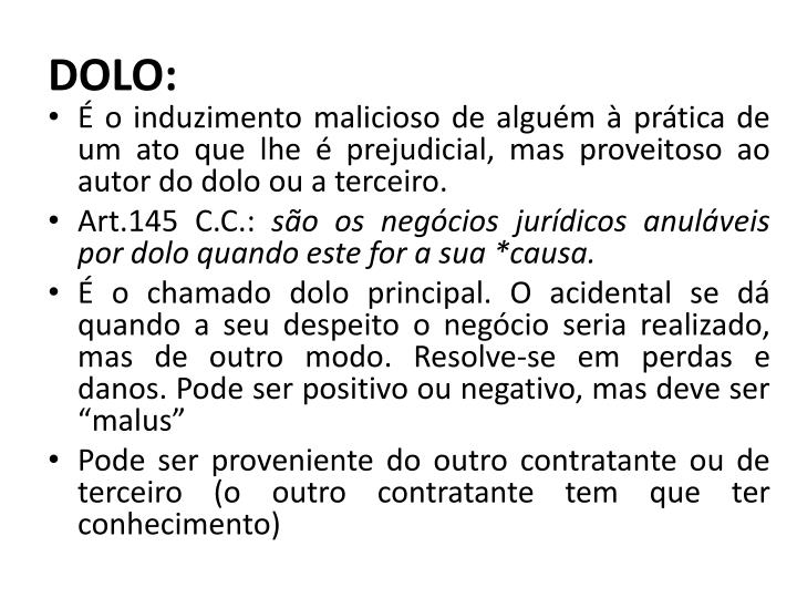 DOLO: