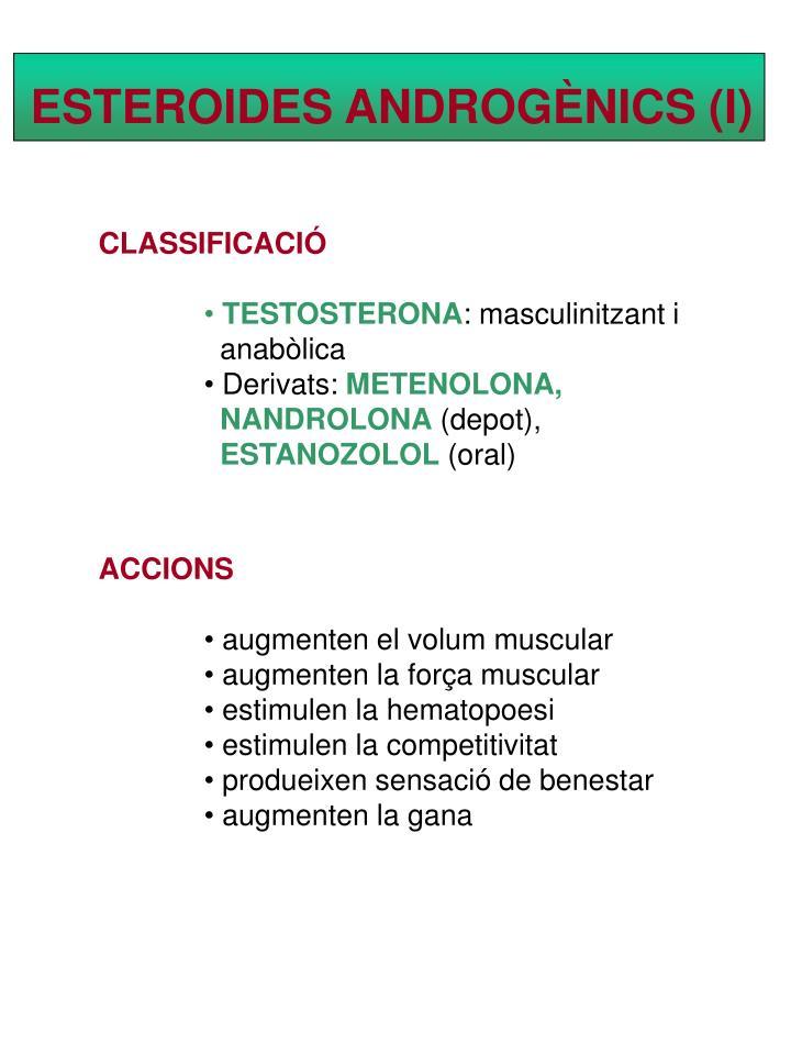 ESTEROIDES ANDROGÈNICS (I)
