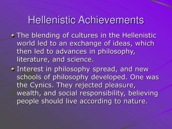 Hellenistic Achievements