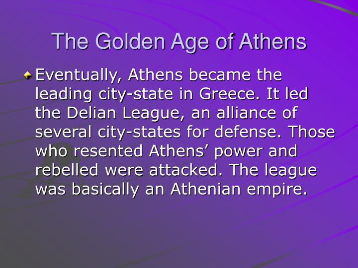 The Golden Age of Athens