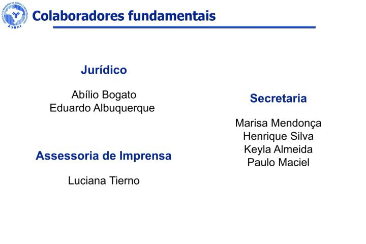Colaboradores fundamentais
