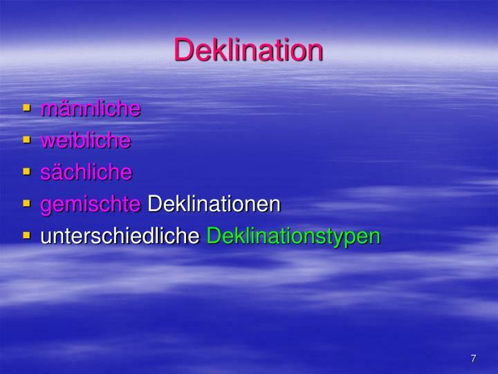 Deklination
