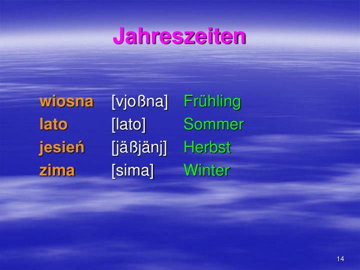 Jahreszeiten