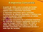 a imprensa comunista
