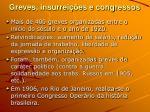 greves insurrei es e congressos