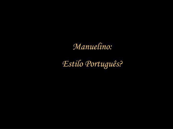 Manuelino: