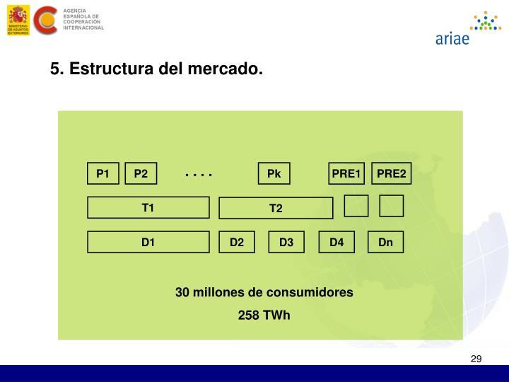 5. Estructura del mercado.