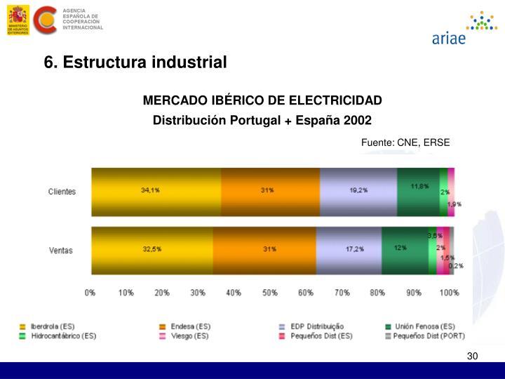 6. Estructura industrial