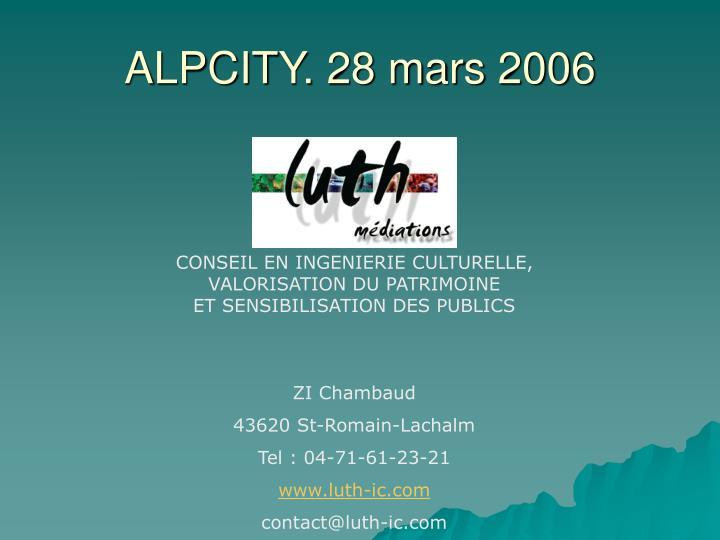 ALPCITY. 28 mars 2006
