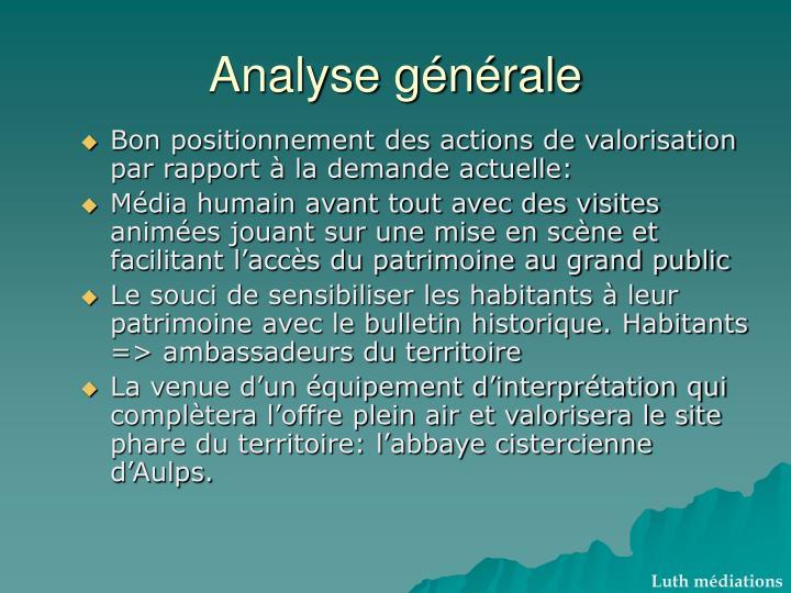 Analyse générale