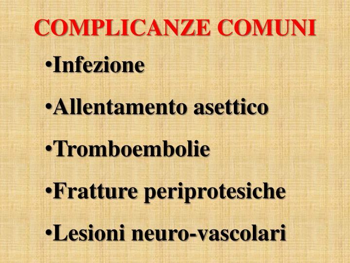 COMPLICANZE COMUNI