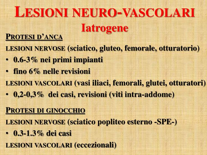 Lesioni neuro-vascolari