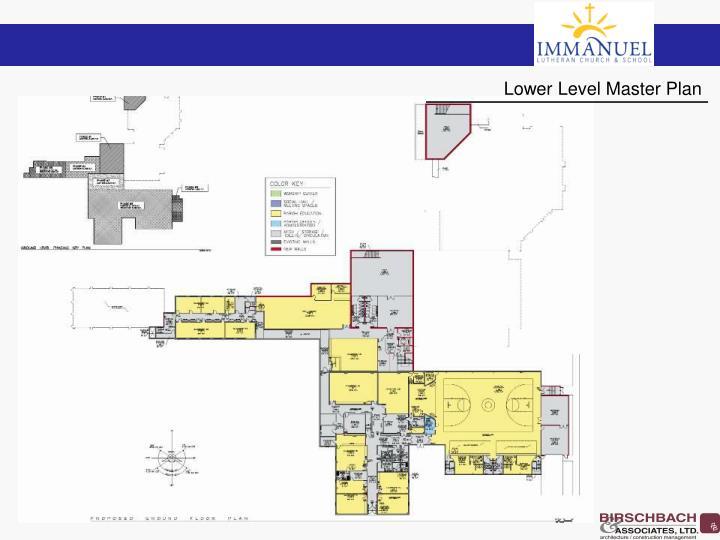 Lower Level Master Plan