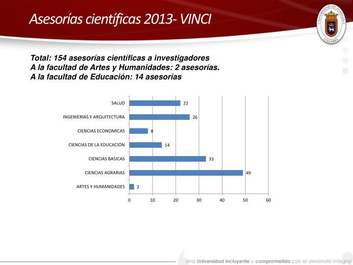 Asesorías científicas 2013- VINCI