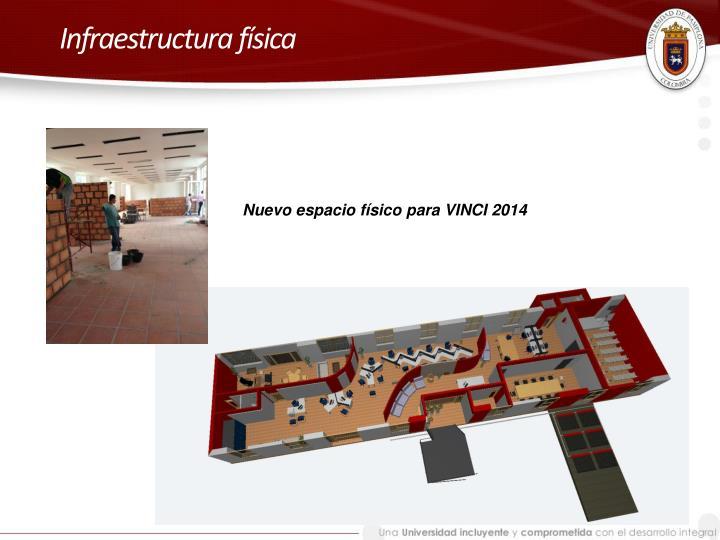 Infraestructura f