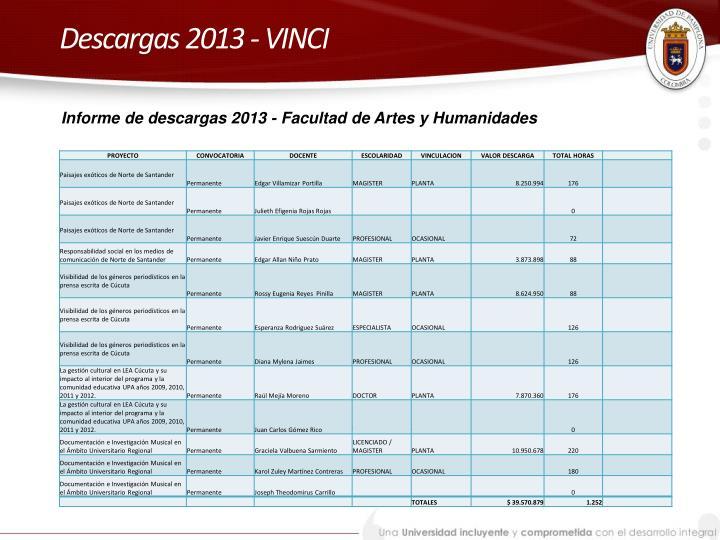 Descargas 2013 - VINCI