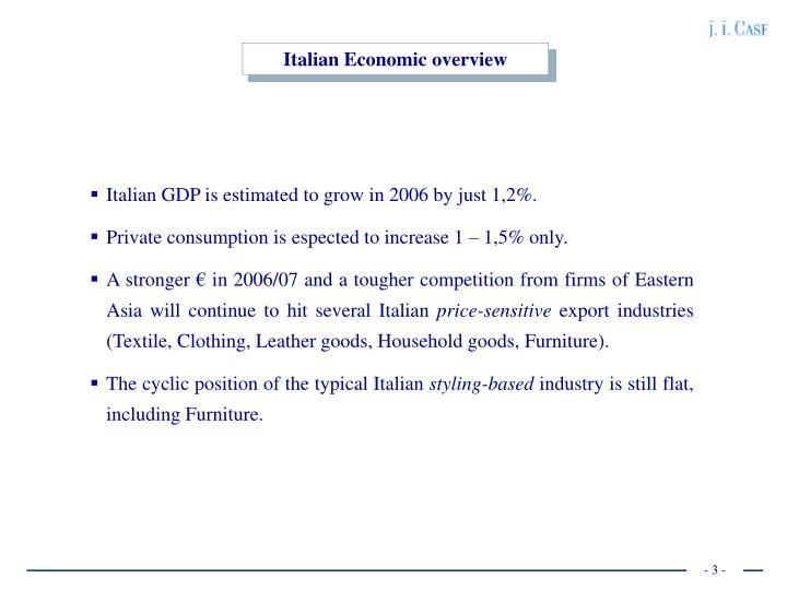 Italian Economic overview