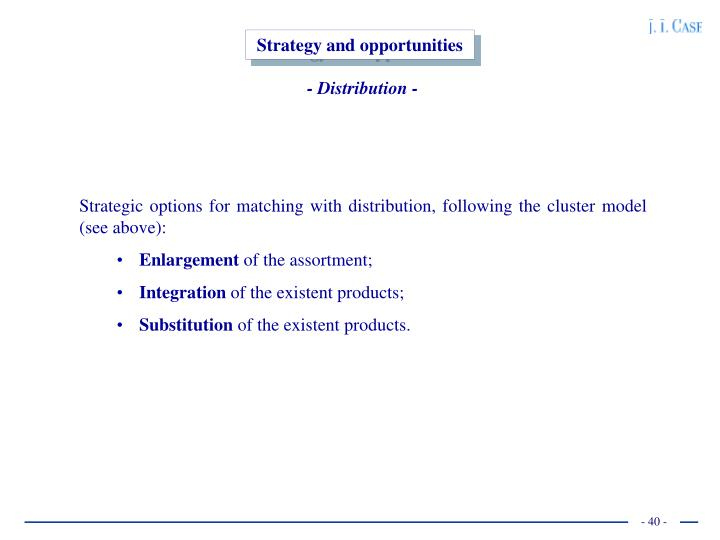 Strategy and opportunities