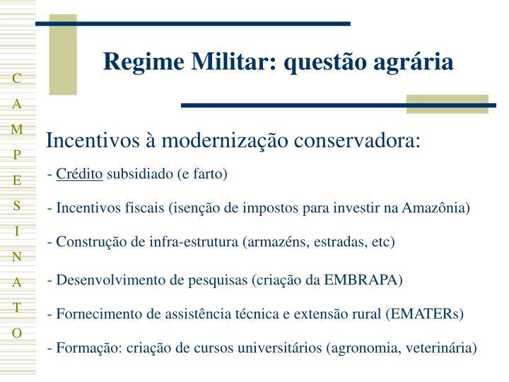 Regime Militar: questão agrária