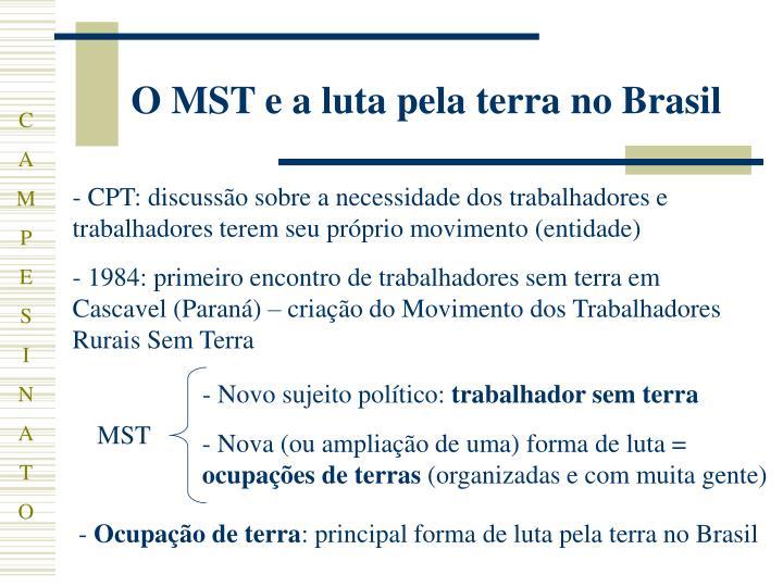O MST e a luta pela terra no Brasil