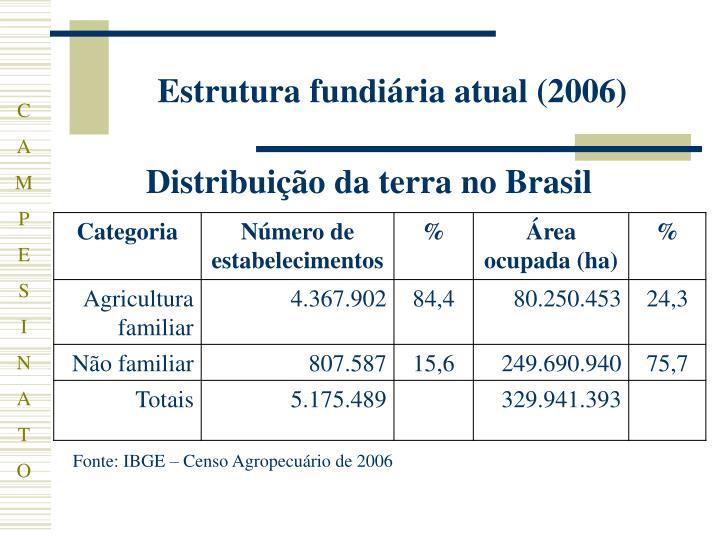 Estrutura fundiária atual (2006)