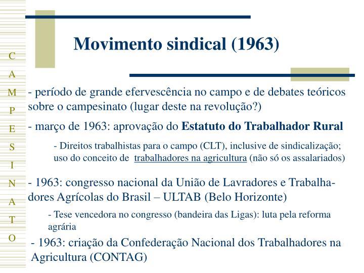 Movimento sindical (1963)