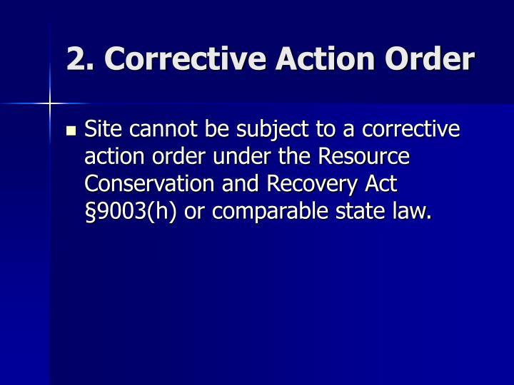 2. Corrective Action Order