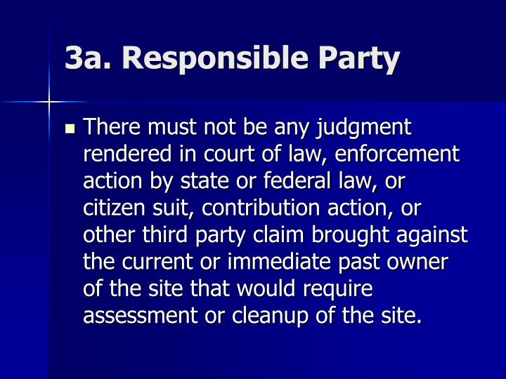3a. Responsible Party