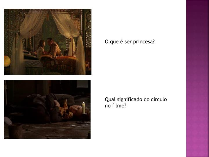 O que é ser princesa?