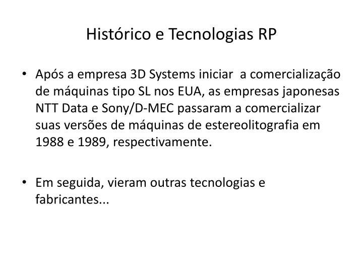 Histórico e Tecnologias RP