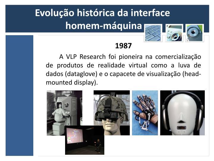 Evolução histórica da interface
