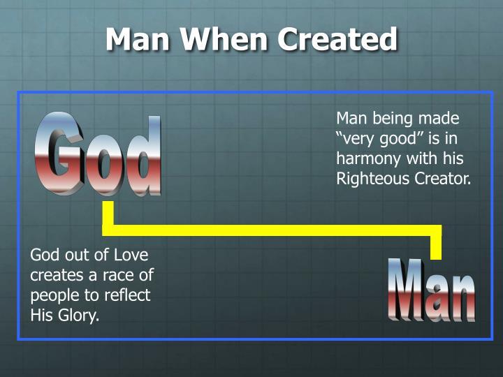 Man When Created