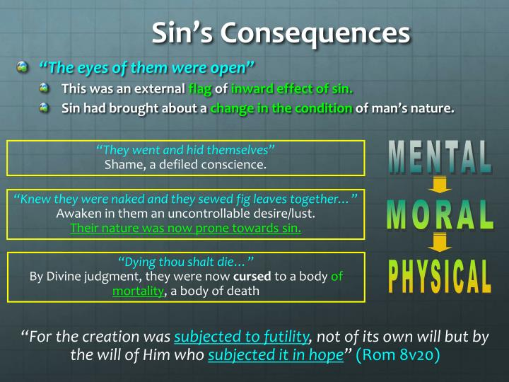 Sin's Consequences