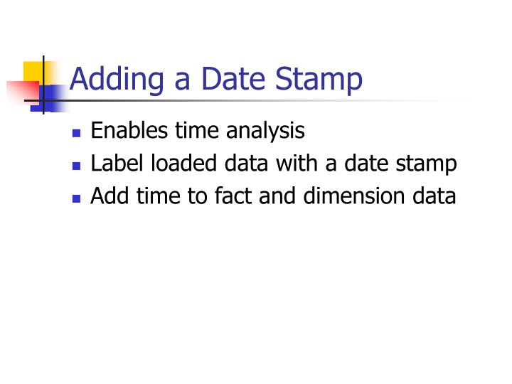 Adding a Date Stamp