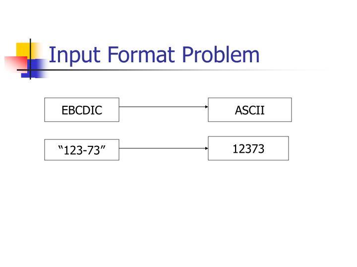 Input Format Problem