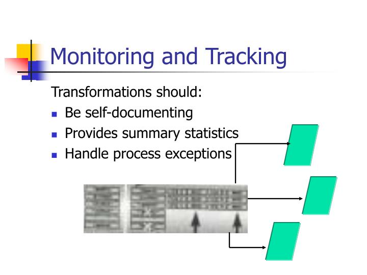 Monitoring and Tracking