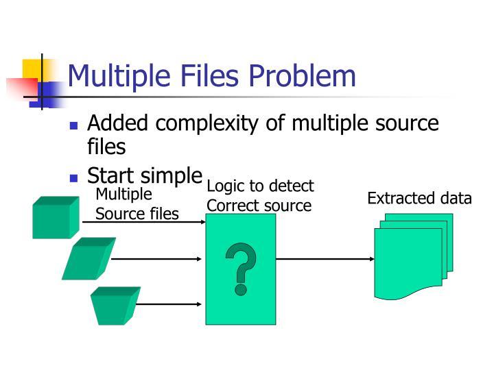 Multiple Files Problem