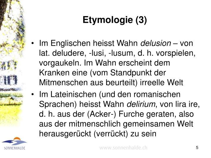Etymologie (3)