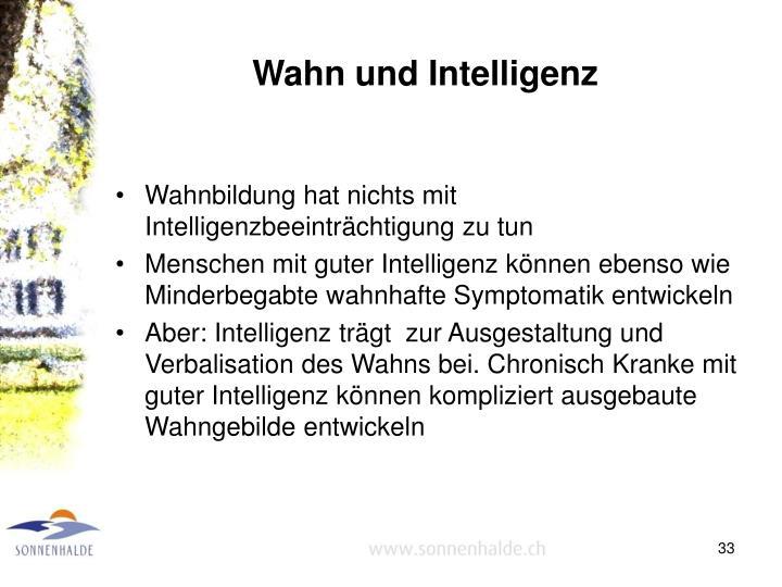 Wahn und Intelligenz