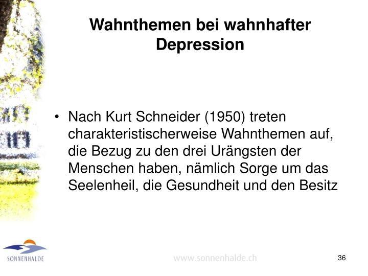 Wahnthemen bei wahnhafter Depression