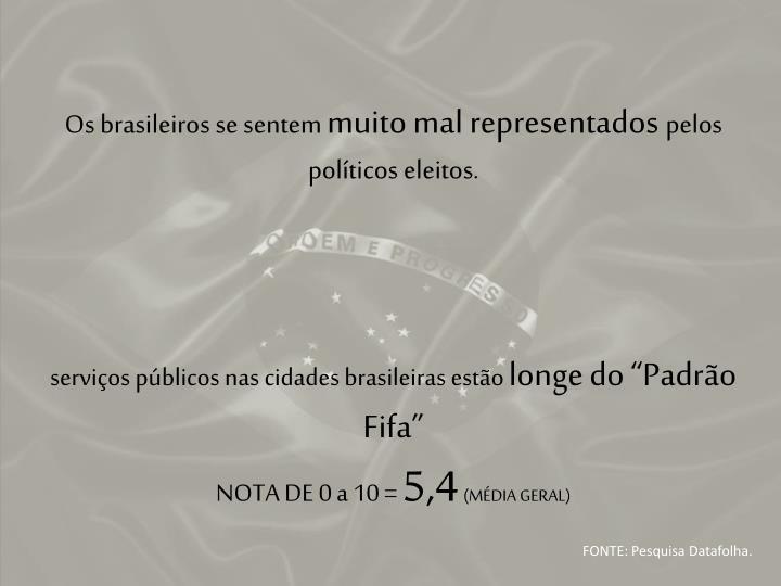 Os brasileiros se sentem