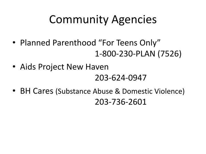 Community Agencies