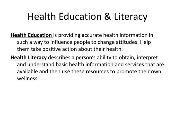 Health Education & Literacy