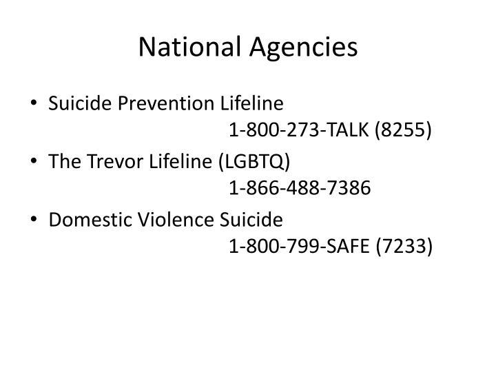 National Agencies