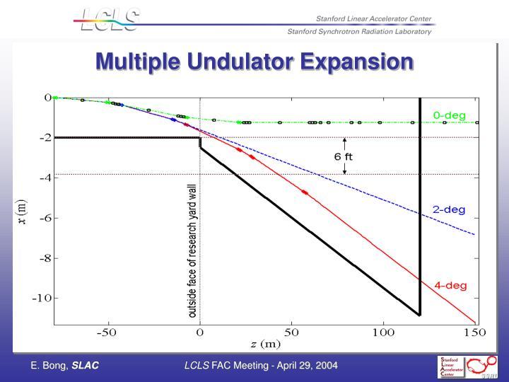 Multiple Undulator Expansion