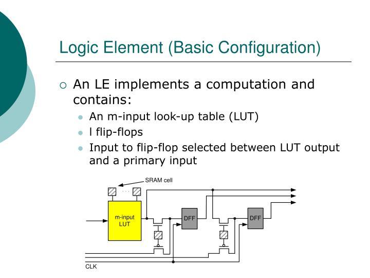 Logic Element (Basic Configuration)