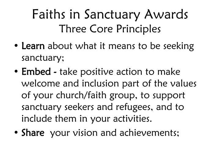 Faiths in Sanctuary Awards